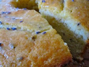 cake met lavendel en citroen